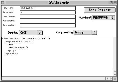 DAV Example Application
